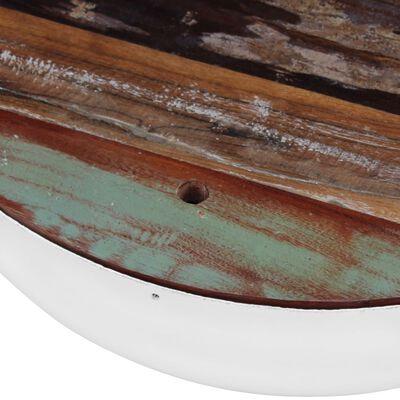 vidaXL 2-delige Salontafelset komvormig massief gerecycled hout