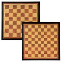 Abbey Game Dam- en schaakbord 41x41 cm hout bruin en beige