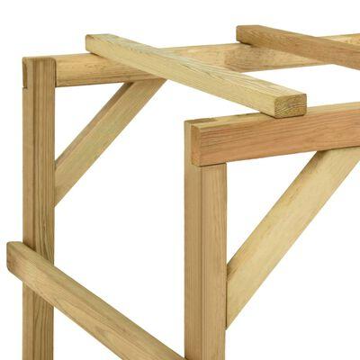 vidaXL Kinderklimrek 170x60x170 cm massief grenenhout
