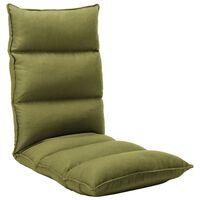 vidaXL Vloerstoel inklapbaar stof groen