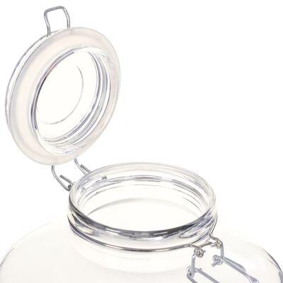 vidaXL Jampotten met sluiting 12 st 5 L glas