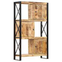vidaXL Boekenkast 90x30x150 cm massief mangohout