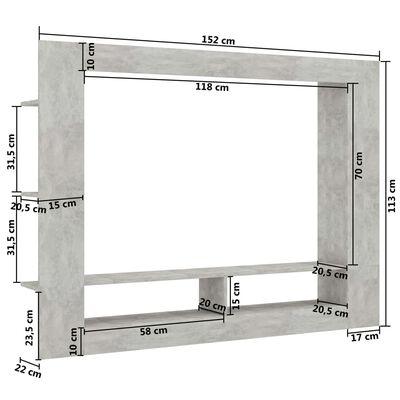 vidaXL Tv-meubel 152x22x113 cm spaanplaat betongrijs