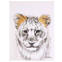 CHILDHOME Olieverfschilderij 30x40 cm leeuw goudkleurig