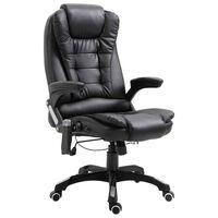 vidaXL Massage kantoorstoel kunstleer zwart
