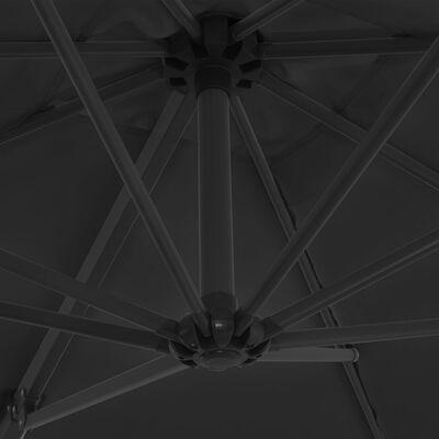 vidaXL Zweefparasol met stalen paal 250x250 cm antraciet