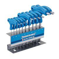 Silverline 10-Delige T-Greep Zeskantsleutel Set (2 - 10 mm)