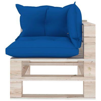 vidaXL 5-delige Loungeset met kussens pallet grenenhout