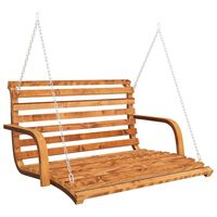 vidaXL Schommelbank 91x130x58 cm gebogen hout met teakafwerking