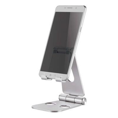 "NewStar Mobiele-telefoonstandaard inklapbaar 7"" zilverkleurig"