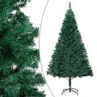vidaXL Kunstkerstboom met dikke takken 210 cm PVC groen