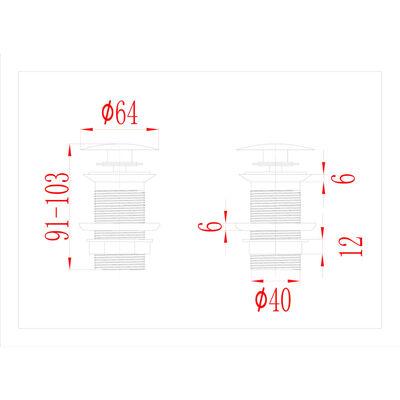 vidaXL Afvoer pop-up zonder overloop 6,4x6,4x9,1 cm nikkelkleurig