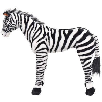 vidaXL Speelgoedzebra staand XXL pluche zwart en wit