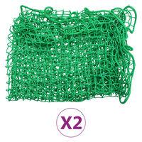 vidaXL Aanhangwagennetten 2 st 2,5x4,5 m PP