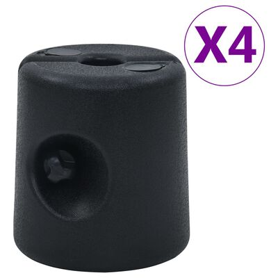 vidaXL Paviljoengewichten 4 st PE zwart