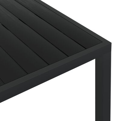 vidaXL Tuintafel 185x90x74 cm aluminium en HKC zwart