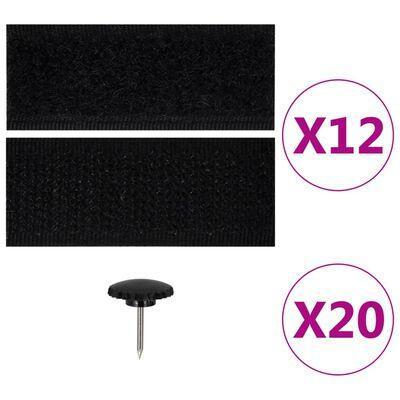 vidaXL Insectendeurgordijnen 2 st magnetisch 220x110 cm zwart