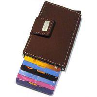 Figuretta RFID beschermde creditcardhouder PU leer bruin FCP001