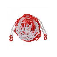 afzetkabel kunststof rood/wit 5 meter