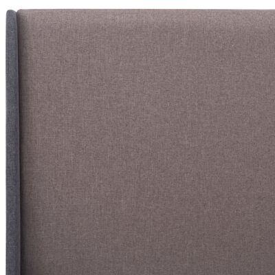 vidaXL Bedframe stof taupe 160x200 cm