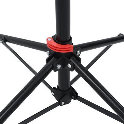 vidaXL Fietsreparatiestandaard 103x103x(115-200) cm staal zwart