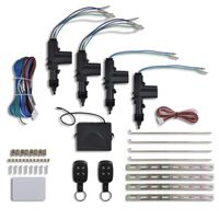 vidaXL Deurvergrendeling met 2 afstandsbedieningen en 4 motoren 12 V
