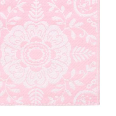 vidaXL Buitenkleed 190x290 cm PP roze