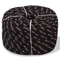vidaXL Boot touw 8 mm 500 m polypropyleen zwart