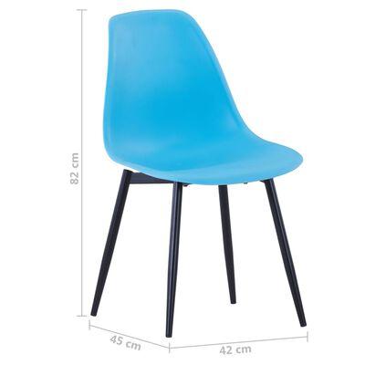 vidaXL Eetkamerstoelen 6 st PP blauw