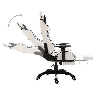 vidaXL Gamestoel met voetensteun kunstleer zwart