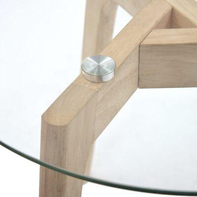 vidaXL 2-delige Bijzettafelset gehard glas