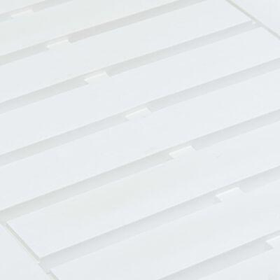 vidaXL Tuintafel 78x55x38 cm kunststof wit