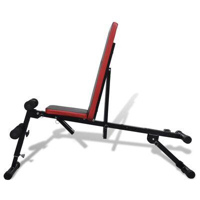 vidaXL Sit-up bankje verstelbaar en multifunctioneel