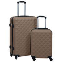 vidaXL 2-delige Harde kofferset ABS bruin