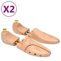 vidaXL Schoenspanners 2 paar maat 42-43 massief grenenhout