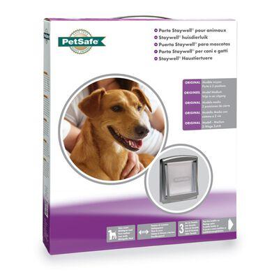 PetSafe Huisdierenluik in 2 richtingen 757 Medium 26,7 x 22,8 cm zilver 5022