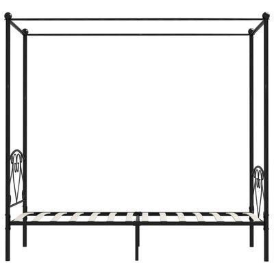 vidaXL Hemelbedframe metaal zwart 90x200 cm
