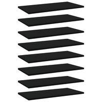 vidaXL Wandschappen 8 st 60x30x1,5 cm spaanplaat zwart
