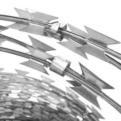 NATO prikkeldraad BTO-22 concertina gegalvaniseerd staal klemmen 60 m