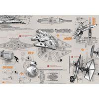 Komar Fotobehang Star Wars Blueprints 368x254 cm 8-493