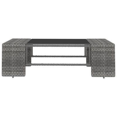 vidaXL 2-delige Loungeset poly rattan grijs
