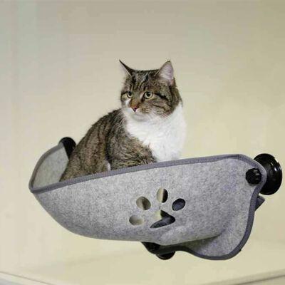 Kerbl Kattenmand voor aan het raam Filzino 70x26x26 cm grijs
