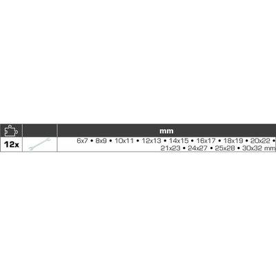 BRILLIANT TOOLS 12-delige Dubbele steeksleutelset