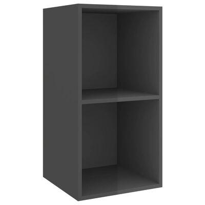 vidaXL 4-delige Tv-meubelset spaanplaat hoogglans grijs