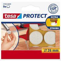 27x Tesa meubelvilt rond wit 2,6 cm - Klusbenodigdheden - Huishouding