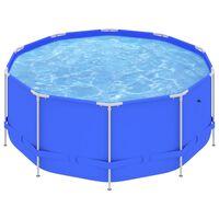 vidaXL Zwembad met stalen frame 367x122 cm blauw