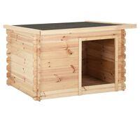 vidaXL Hondenhok 120x100x80 cm massief grenenhout