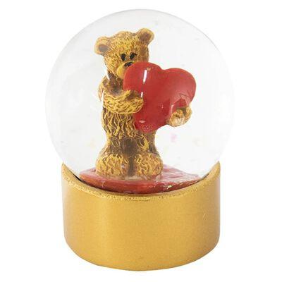Sneeuwbol |  Ø 7*8 cm | Multi | Polyresin / glas | rond | beer-hart |