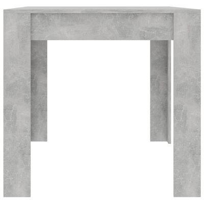 vidaXL Eettafel 160x80x76 cm spaanplaat betongrijs