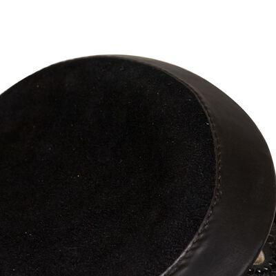 """vidaXL Western zadel, hoofdstel en borstriem 16"""" echt leer zwart"""